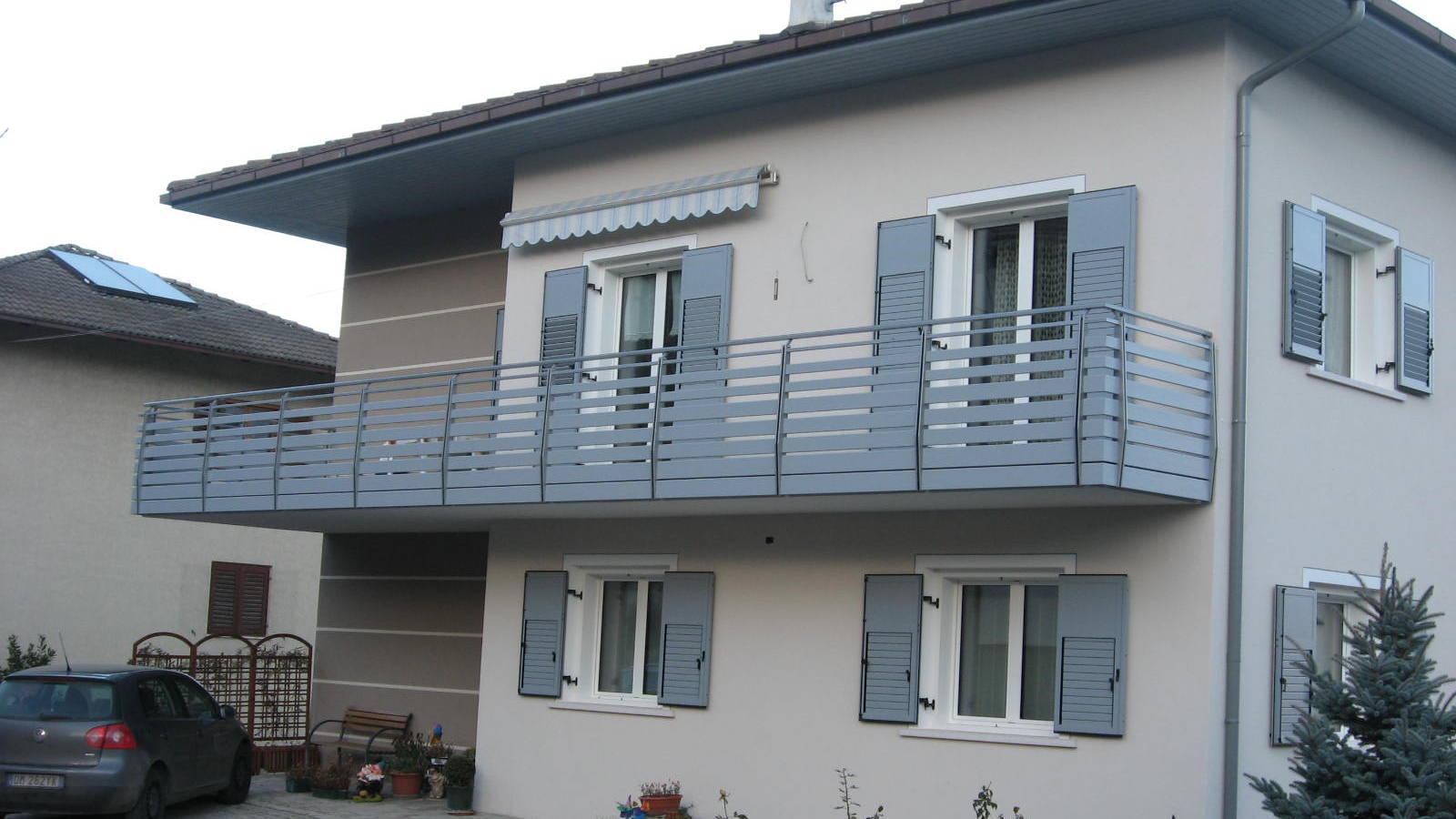 Balconi in legno alluminio