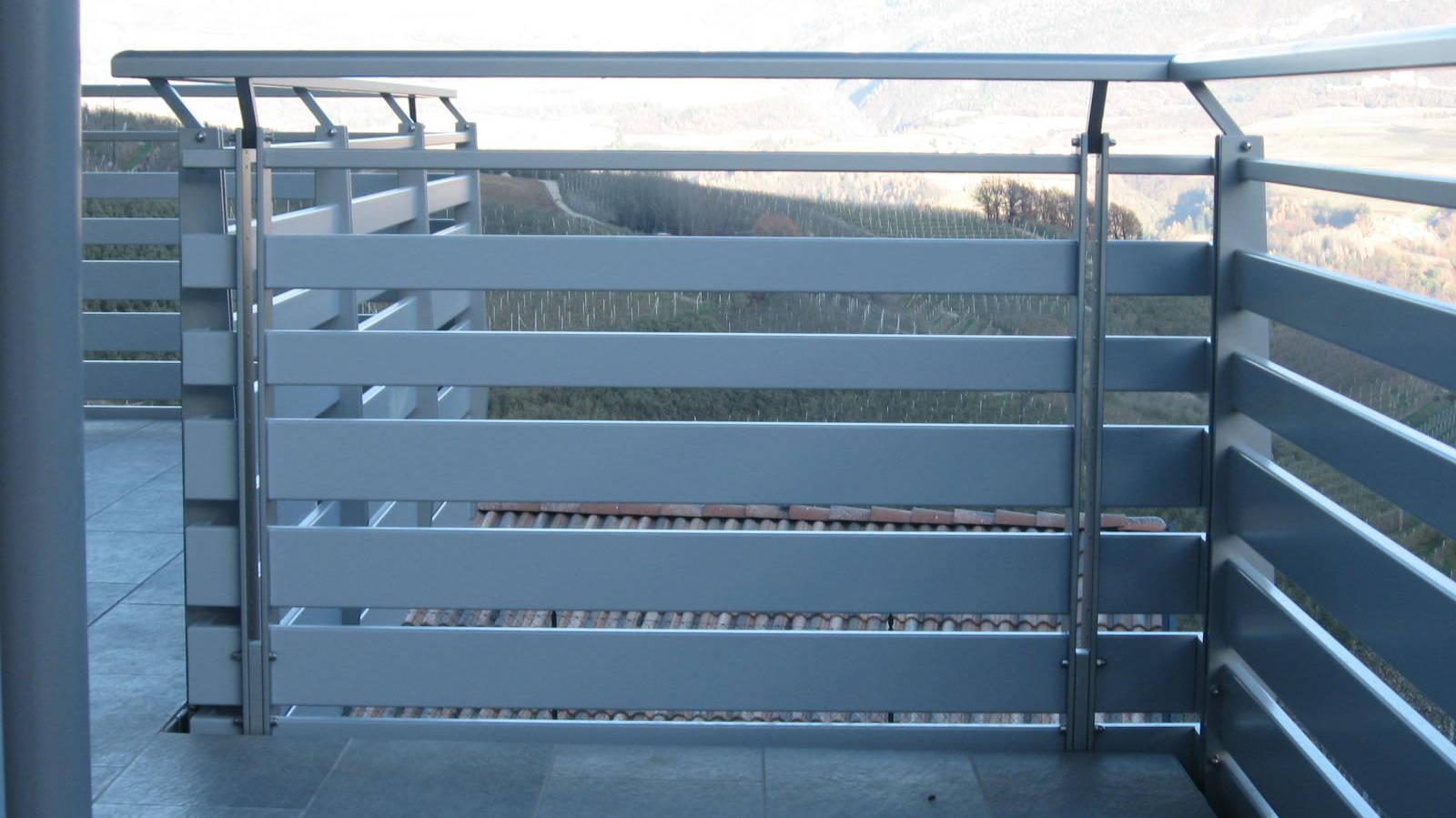 Realizzazione balconi legno allumnio